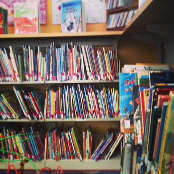 children's books at the library