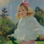 Girl_with_Pink_Bow_oil_1905_Frank_Weston_Benson