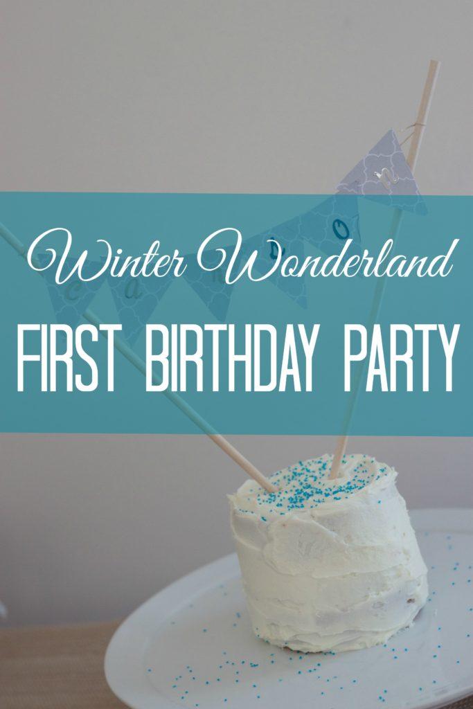 Winter Wonderland First Birthday Party